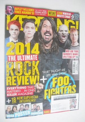 <!--2014-12-13-->Kerrang magazine - The Ultimate Rock Review cover (13 Dece
