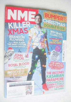 <!--2014-12-20-->NME magazine - Brandon Flowers cover (20-27 December 2014)