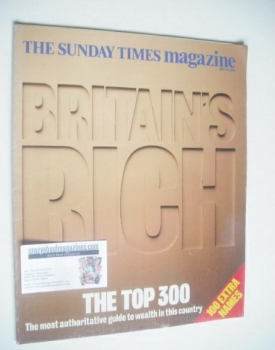 The Sunday Times magazine - Britain's Rich Top 300 (10 May 1992)