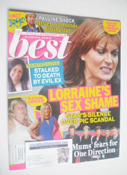 <!--2014-06-10-->Best magazine - 10 June 2014 - Lorraine Kelly cover