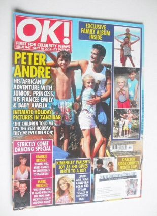 <!--2014-09-16-->OK! magazine - Peter Andre and family cover (16 September