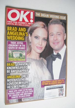 <!--2014-09-09-->OK! magazine - Brad Pitt and Angelina Jolie cover (9 Septe