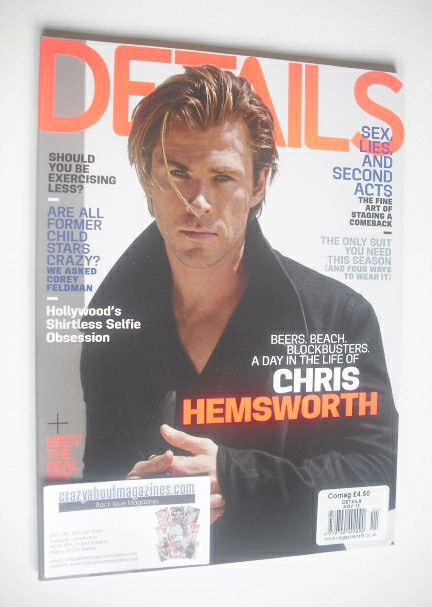 <!--2013-11-->Details magazine - November 2013 - Chris Hemsworth cover