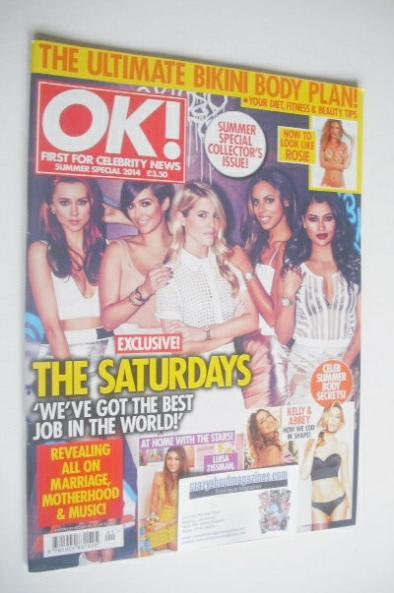 <!--2014-08-01-->OK! magazine - The Saturdays cover (Summer Special 2014)