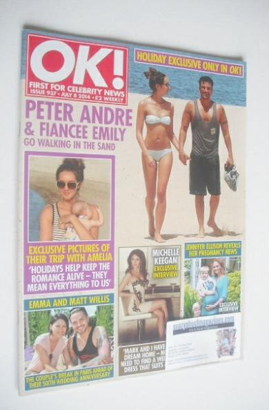 <!--2014-07-08-->OK! magazine - Peter Andre and Emily MacDonagh cover (8 Ju