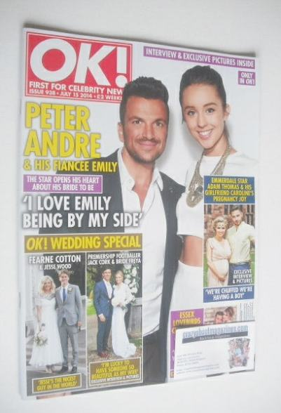 <!--2014-07-15-->OK! magazine - Peter Andre and Emily MacDonagh cover (15 J