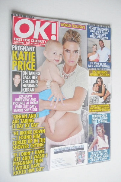 <!--2014-08-12-->OK! magazine - Katie Price cover (12 August 2014 - Issue 9