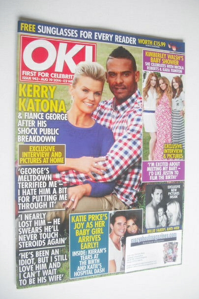 <!--2014-08-19-->OK! magazine - Kerry Katona and George Kay cover (19 Augus