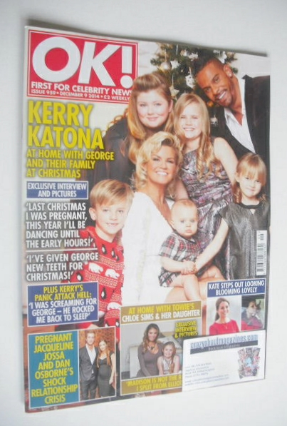 <!--2014-12-09-->OK! magazine - Kerry Katona and family cover (9 December 2