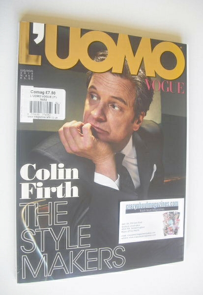 <!--2014-07-->L'Uomo Vogue magazine - July/August 2014 - Colin Firth cover