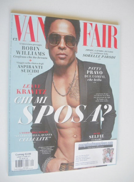 <!--2014-08-27-->Italian Vanity Fair magazine - Lenny Kravitz cover (27 Aug