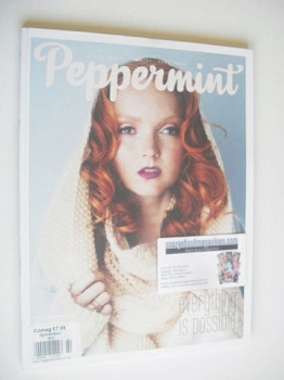 Peppermint magazine - Lily Cole cover (Winter 2014)