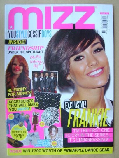 <!--2013-02-21-->MIZZ magazine - Frankie Sandford cover (21 February - 20 M