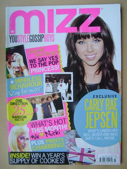 <!--2012-06-07-->MIZZ magazine - Carly Rae Jepsen cover (7 - 27 June 2012)