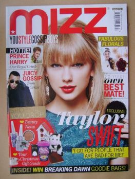 MIZZ magazine - Taylor Swift cover (22 November - 12 December 2012)