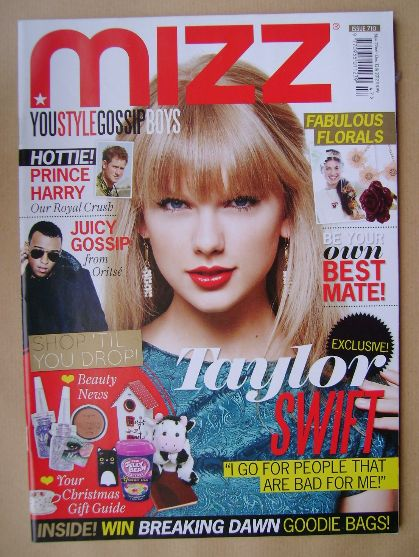 <!--2012-11-22-->MIZZ magazine - Taylor Swift cover (22 November - 12 Decem