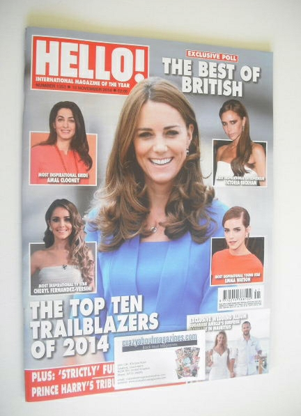 <!--2014-11-10-->Hello! magazine - The Duchess of Cambridge cover (10 Novem