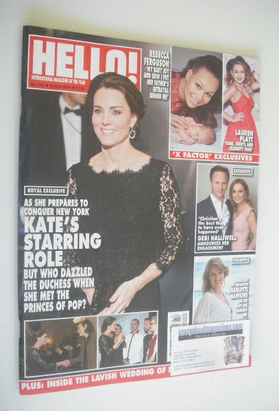 <!--2014-11-24-->Hello! magazine - The Duchess of Cambridge cover (24 Novem