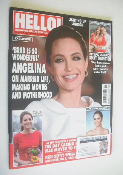 <!--2014-12-08-->Hello! magazine - Angelina Jolie cover (8 December 2014 -