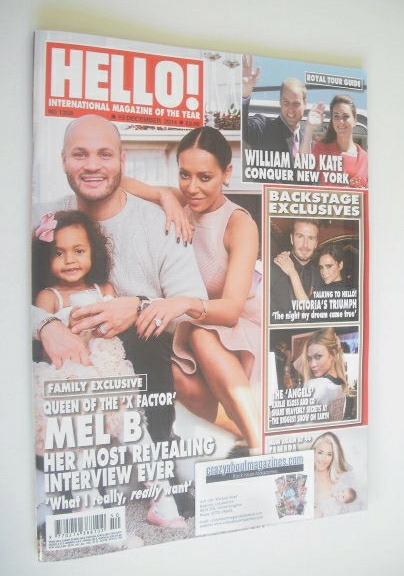 <!--2014-12-15-->Hello! magazine - Mel B and family cover (15 December 2014
