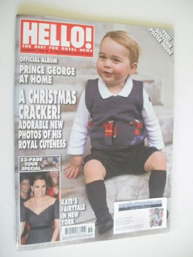 <!--2014-12-22-->Hello! magazine - Prince George cover (22 December 2014 -