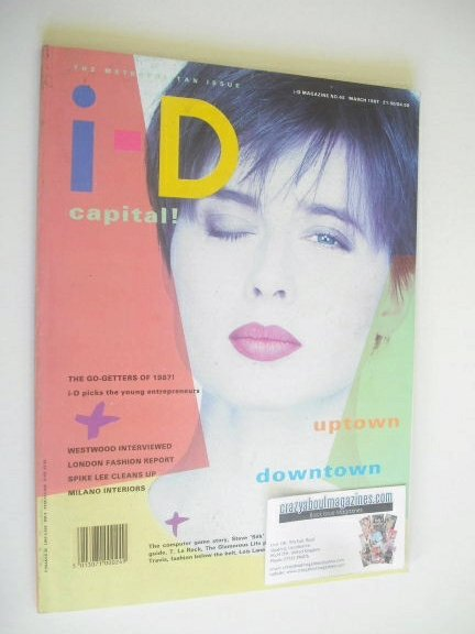 <!--1987-03-->i-D magazine - Isabella Rossellini cover (March 1987)