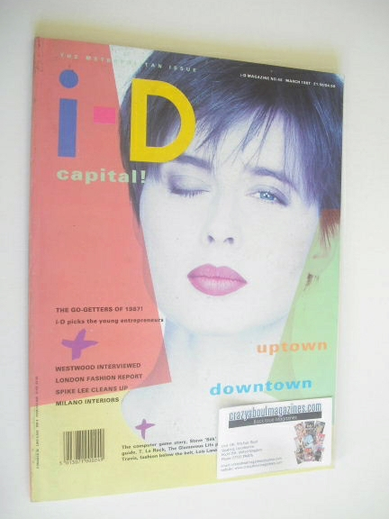 <!--1987-03-->i-D magazine - Isabella Rossellini cover (March 1987)