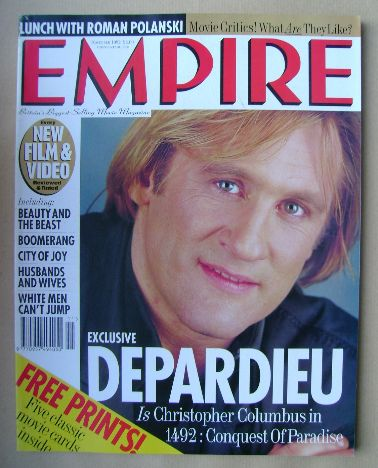 <!--1992-11-->Empire magazine - Gerard Depardieu cover (November 1992 - Iss