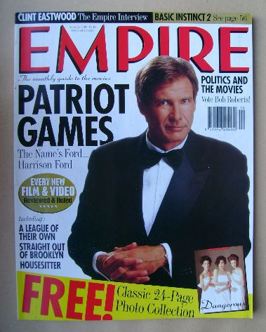 <!--1992-10-->Empire magazine - Harrison Ford cover (October 1992 - Issue 4