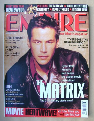<!--1999-07-->Empire magazine - Keanu Reeves cover (July 1999 - Issue 121)