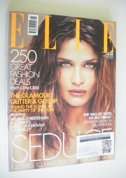 <!--1998-11-->British Elle magazine - November 1998 - Helena Christensen co