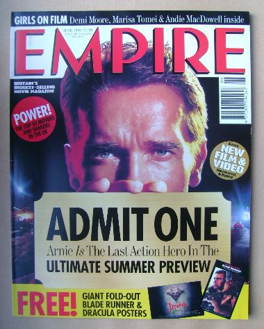 <!--1993-06-->Empire magazine - Arnold Schwarzenegger cover (June 1993 - Is