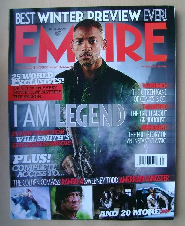 Empire Magazine Will Smith Cover October 2007 Issue 220