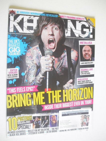 <!--2011-05-07-->Kerrang magazine - Oli Sykes cover (7 May 2011 - Issue 136