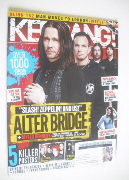<!--2011-05-14-->Kerrang magazine - Alter Bridge cover (14 May 2011 - Issue