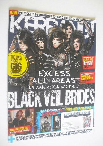 <!--2011-04-23-->Kerrang magazine - Black Veil Brides cover (23 April 2011