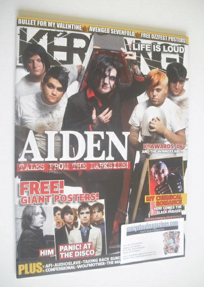 <!--2006-09-02-->Kerrang magazine - Aiden cover (2 September 2006 - Issue 1