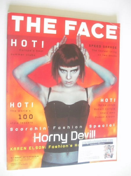 <!--1997-08-->The Face magazine - Karen Elson cover (August 1997 - Volume 3