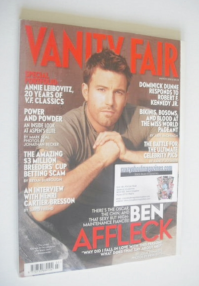 <!--2003-03-->Vanity Fair magazine - Ben Affleck cover (March 2003)