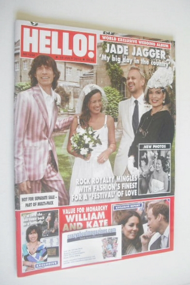 <!--2012-07-16-->Hello! magazine - Jade Jagger wedding cover (16 July 2012