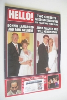 <!--1995-10-14-->Hello! magazine - Bonnie Langford / Anna Walker cover (14 October 1995 - Issue 377)