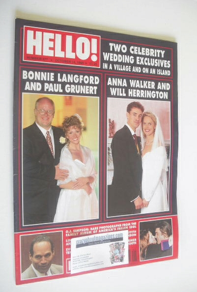 <!--1995-10-14-->Hello! magazine - Bonnie Langford / Anna Walker cover (14