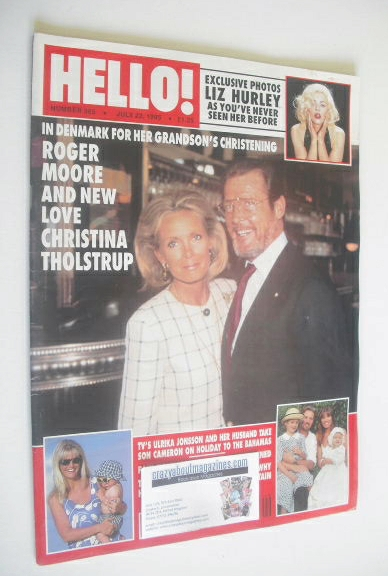 <!--1995-07-22-->Hello! magazine - Roger Moore and Christina Tholstrup cove
