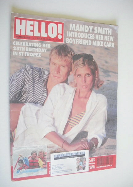 <!--1995-07-29-->Hello! magazine - Mandy Smith and Mike Carr cover (29 July
