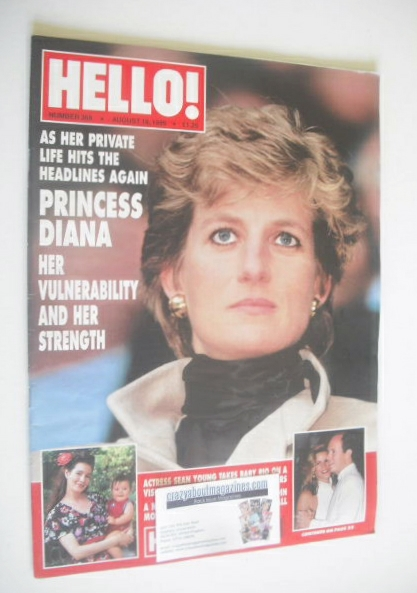 <!--1995-08-19-->Hello! magazine - Princess Diana cover (19 August 1995 - I