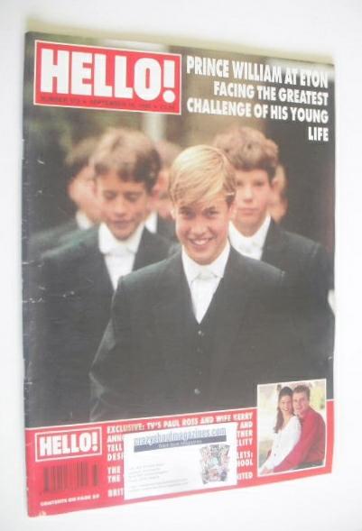 <!--1995-09-16-->Hello! magazine - Prince William at Eton cover (16 Septemb