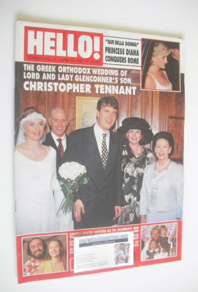 <!--1996-06-29-->Hello! magazine - Christopher Tennant cover (29 June 1996