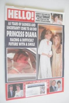Hello! magazine - Princess Diana and Jemima Khan cover (20 July 1996 - Issue 416)