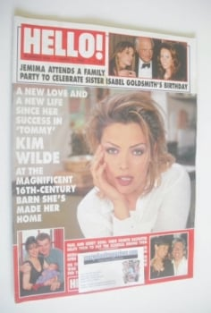 <!--1996-06-01-->Hello! magazine - Kim Wilde cover (1 June 1996 - Issue 409)