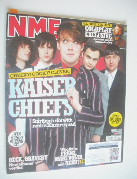 <!--2005-03-19-->NME magazine - Kaiser Chiefs cover (19 March 2005)